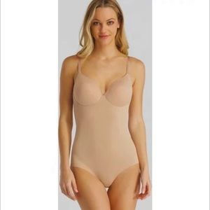 SPANX flawless finish shaping micro adjustable cupped bodysuit shapewear large